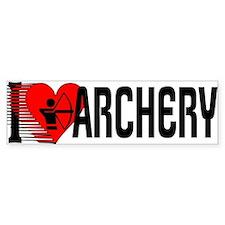I Love Archery Bumper Bumper Sticker