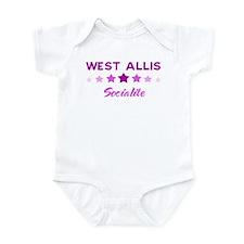 WEST ALLIS socialite Infant Bodysuit