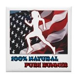 Woman Runner Tile Coaster