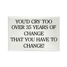 Crying for Change Rectangle Magnet