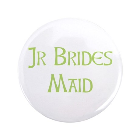"Sherbet Junior Bridesmaid 3.5"" Button (100 pack)"