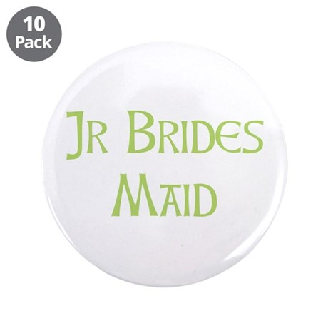 "Sherbet Junior Bridesmaid 3.5"" Button (10 pack)"