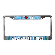 Cartoon Love Maximilian Pionus License Plate Frame