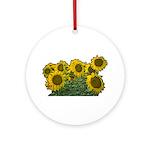 Sunflowers Ornament (Round)