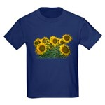 Sunflowers Kids Dark T-Shirt