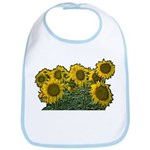 Sunflowers Bib