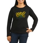Sunflowers Women's Long Sleeve Dark T-Shirt