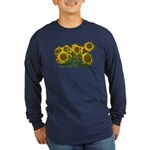 Sunflowers Long Sleeve Dark T-Shirt
