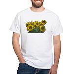 Sunflowers White T-Shirt