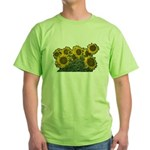 Sunflowers Green T-Shirt