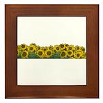 Sunflower Field Framed Tile