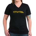Sunflower Field Women's V-Neck Dark T-Shirt