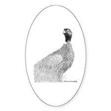 pheasant Oval Decal