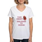 This Heart: Rickie (C) Women's V-Neck T-Shirt