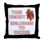 This Heart: Rickie (C) Throw Pillow