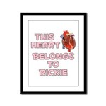 This Heart: Rickie (C) Framed Panel Print