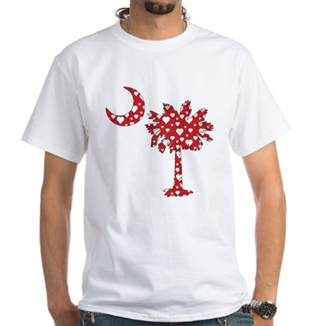 White Hearts Palmetto White T-Shirt