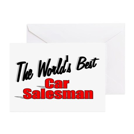 """The World's Best Car Salesman"" Greeting Cards (Pk"