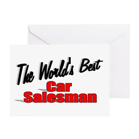 """The World's Best Car Salesman"" Greeting Card"