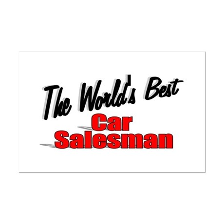 """The World's Best Car Salesman"" Mini Poster Print"