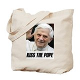 Kiss the Pope Tote Bag
