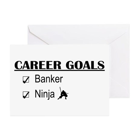 Banker Career Goals Greeting Cards (Pk of 10)