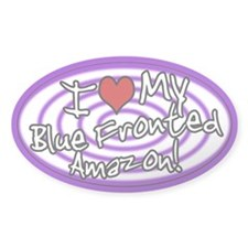 Hypno I Love My Blue Fronted Amazon Sticker Purp