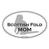 Scottish Fold Mom Oval Decal