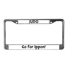 Judo License Plate Frame