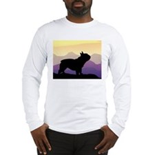 Frenchie Purple Mt. Long Sleeve T-Shirt