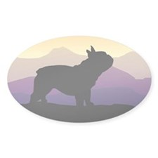 Frenchie Purple Mt. Oval Decal