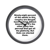Cool Tomlin quotation Wall Clock