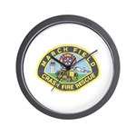 March Field Fire Wall Clock