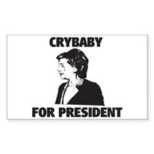 Crybaby for President Rectangle Decal