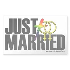 Just Married Women Decal