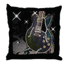 Semi Glow Guitar Throw Pillow