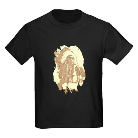 Indian Chief Kids Dark T-Shirt