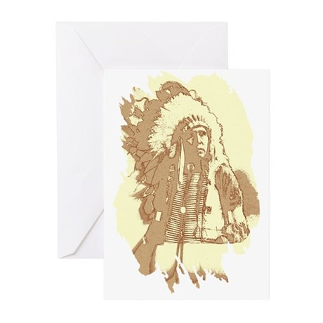 Indian Chief Greeting Cards (Pk of 20)