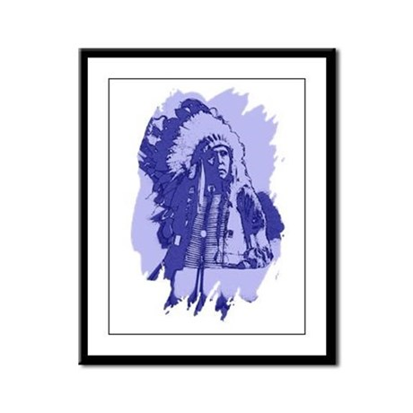 Indian Chief Framed Panel Print