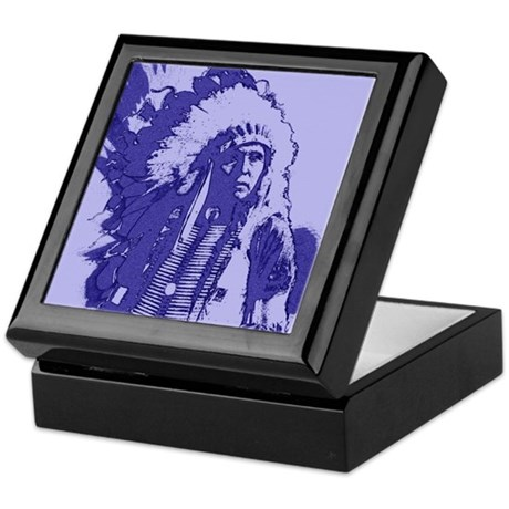 Indian Chief Keepsake Box