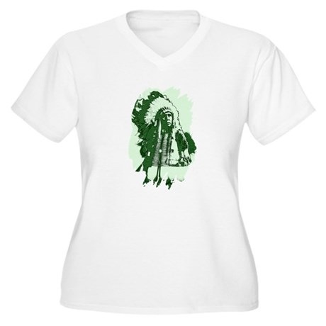 Indian Chief Women's Plus Size V-Neck T-Shirt