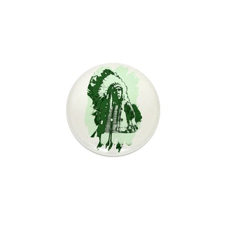 Indian Chief Mini Button (10 pack)