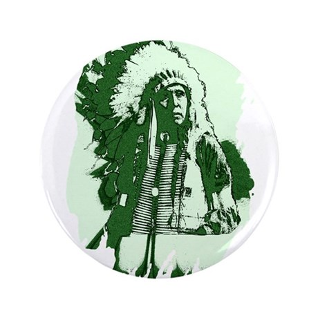 "Indian Chief 3.5"" Button"