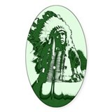 Indian Chief Oval Decal