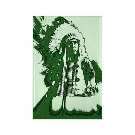 Indian Chief Rectangle Magnet