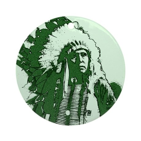 Indian Chief Ornament (Round)