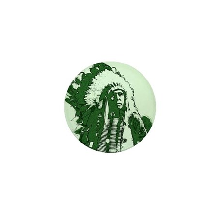 Indian Chief Mini Button