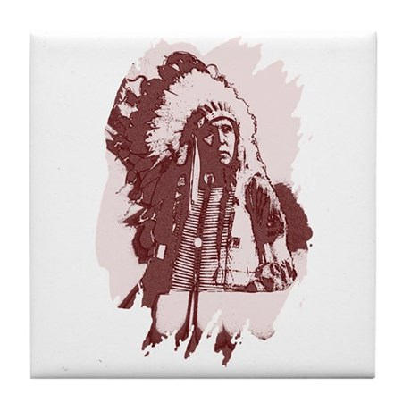 Indian Chief Tile Coaster