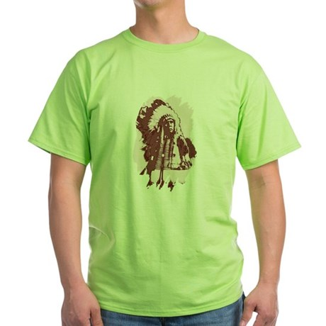 Indian Chief Green T-Shirt