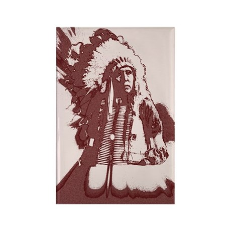 Indian Chief Rectangle Magnet (100 pack)